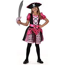 Disfraz de pirata bonita para niña, diferentes tallas.