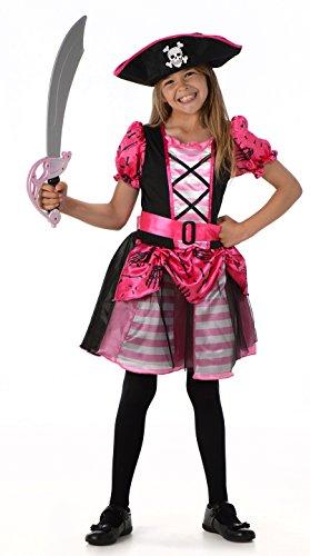Disfraz Pirata Bonita Disfraces Chicas Niña (Pequeño 3 -4 años)