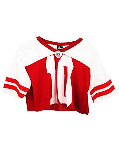 a7a8820176b78 UISSOS Camiseta Futbol Americano para Mujer diseño Estampado número 10 Corta .