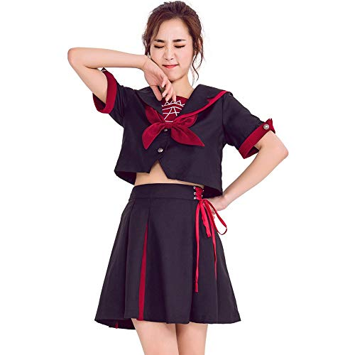 VNIUBI Cosplay Matrosenanzug Halloween Kostüm, Japanische College Wind Student Uniform Anzug (College Kostüm Party Bilder)
