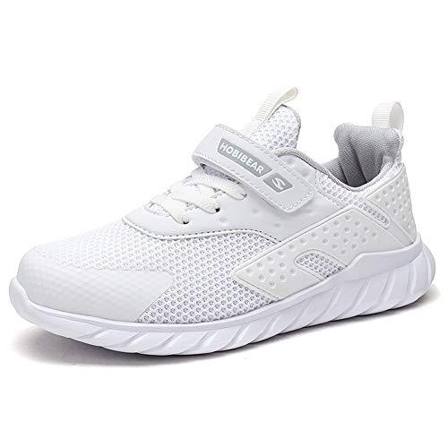 Kinder Sneaker Jungen Sportschuhe Mädchen Hallenschuhe Outdoor Laufschuhe Für Unisex-Kinder Weiß 32 EU ()