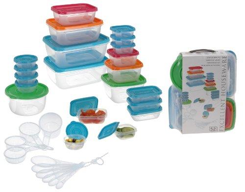 Aufbewahrungsdosen Frischhaltedosen Gefrierdosen Vorratsdosen-Set 52-tlg. aus Kunststoff - Milumi Edition