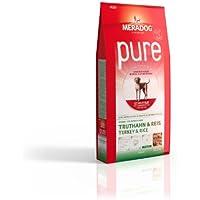 MERA Meradog Pure Senior Trockenfutter I Hundefutter ohne glutenhaltige Zutaten für ältere, sensible Hunde mit Truthahn und Reis I 12,5 Kg