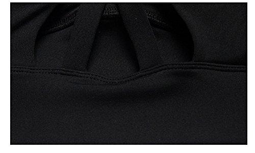 Weelly Underwear Soutien Gorge de Sport Brassière Uni Femme Noir