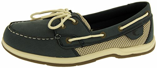 Island Surf Co Damen Synthetikleder Segelschuhe Marineblau