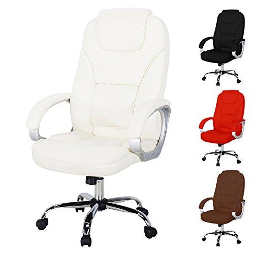 Miweba Bürostuhl Comfort aus Kunstleder mit extra gepolsterter Kopfstütze und Wippautomatik...