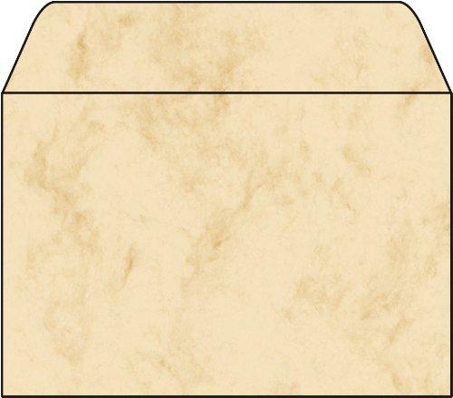 Sigel DU011 Briefumschläge, Marmor beige, C6, 25 Stück, gummiert