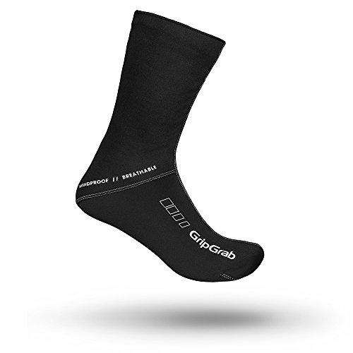GripGrab Unisex Winddichte Winter-Fahrradsocken l Extra hohe Bike Socken für einen verbesserten Kälteschutz l Verschiedene Größen, Schwarz, XL (44-45)