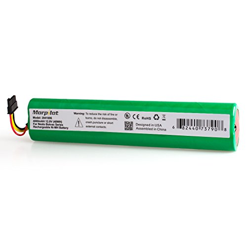 Morpilot 12V 4000mAh Extended NiMh Battery Pack for Neato Botvac Series and Botvac D Series Robots, Botvac 70e, 75, 80, 85 Robotic Vacuum Cleaner 945-0129