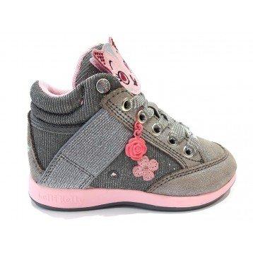 Scarpe bambina Sneakers Lelli Kelly 6400 Gattino & Amici Grigio Gattina - 24, Pelle + Tela, Grigio