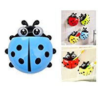 Toothbrush Holder Wall Mounted for Bathroom - Cute Ladybug Suction Ladybird Toothpaste Wall Sucker Holder