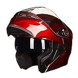 Off-Road Moto Motorrad Klapphelm Unisex Erwachsene Antifogging Double Lens Integralhelme Motocross Sicherheitskappen