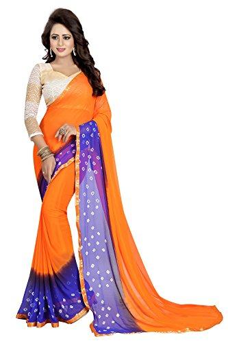 Kanchan Chiffon Saree For Women & Girls Ideal For Parties & Functions(KTFENTA...