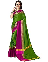 Sarees (Women's Clothing Saree For Women Latest Design Wear Sarees New Collection In MULTY Coloured COTTON SILK...