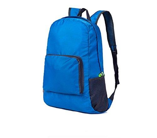 Qissy®Ultra-Leicht und faltbare Wasserdicht Day Rucksack Qualitäts-Camping Wandern Rucksack Tasche (Grau) Blau