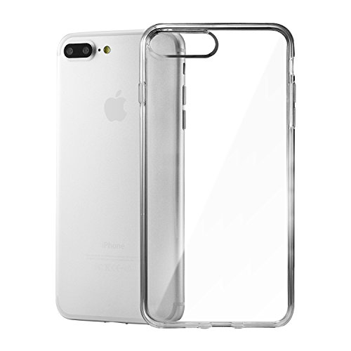 iPhone 8 Plus Silikon Hülle,iPhone 7 Plus hülle,Apple iPhone 8 plus Silikon Abdeckung Stoß- Dünn Glanz Gel Stoßstange Flexibel und Weich Apple iPhone 7 plus &iPhone 8 plus 5,5 TPU Durchsichtig Transparent