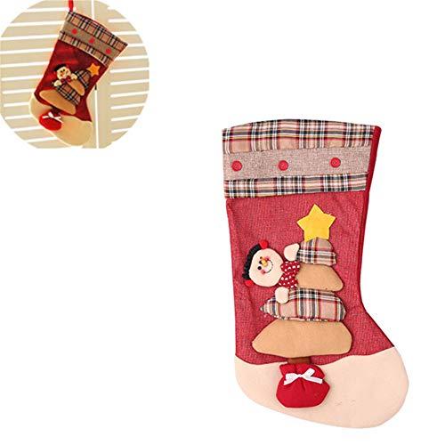 Calze di decorazione natalizia re di tela plaid calze di natale di lusso sacchetto regalo di natale decorazione natalizia forniture sacchetto regalo per bambini,b