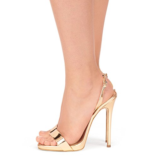 Amy Q ,  Damen Sling Backs champagnerfarben