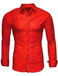 Abbigliamento camicia Uomo rossa it Amazon xq6ZIZ