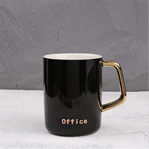 Hengrui tazza in ceramica tazza creativa nordic semplice tazza caffè tazza regalo oro nero - tazza singola