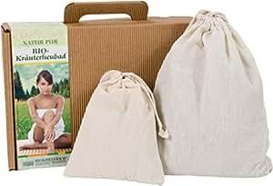 HEU-HEINRICH® Bio-Kräuter-Heubad – natürlicher Badezusatz – Geschenkidee für Geburtstage oder Weihnachts-Geschenkset – Wellness und Gesundheit für Zuhause