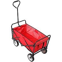 Homfa Carro plegable abatible Carro de Transporte, Carga 80kg. Paño de Oxford impermeable (rojo)