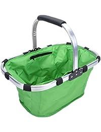 Spandal New Shopping Basket Multi-Purpose Foldable Basket Picnic Basket Camping Folding Basket Storage Bags