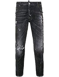 DSQUARED2 Jeans Uomo S74LB0491S30357900 Cotone Nero bbab289a87c4