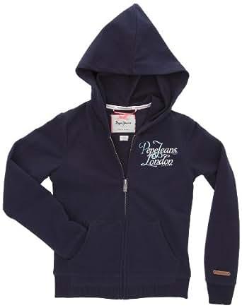 Pepe Jeans Mercedes - Sweat-Shirt à Capuche - Fille - Bleu (Sailor) - 10 ans