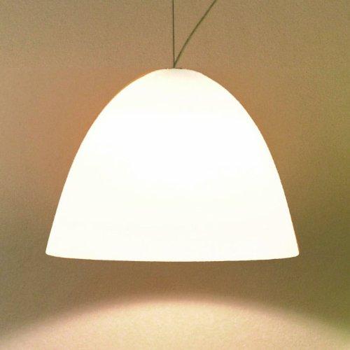 Mini-Pendelleuchte 1-Flammig Bell Größe: 21cm, Farbe: Weiß, Eigenschaften: Ohne Zugpendel