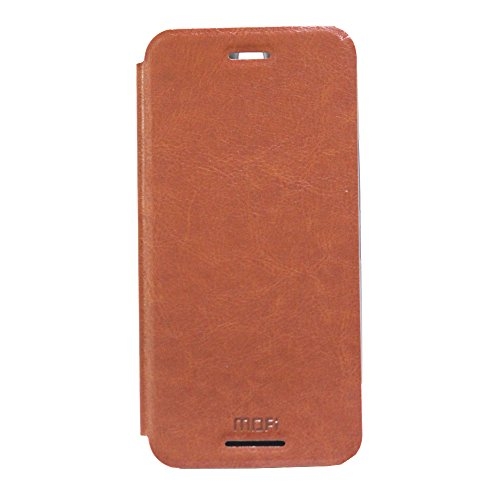 Jo Jo Mofi Leather Flip Cover Case With Slim Back Stand For HTC One M9 Plus Brown  available at amazon for Rs.140