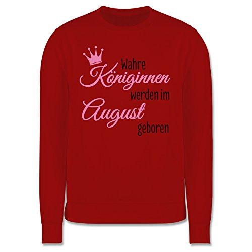 Geburtstag - Wahre Königinnen werden im August geboren - Herren Premium Pullover Rot