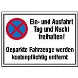 INDIGOS UG - Symbol Ein- und Ausfahrt Aluminium-Dibond - Warnung - Sicherheit - Hotel, Firma, Haus