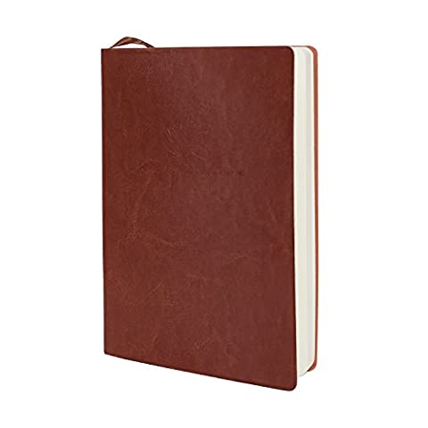 Handmade Leather Writing Journal Notebook, SAYEEC Leaves Embossed Vintage Notebook