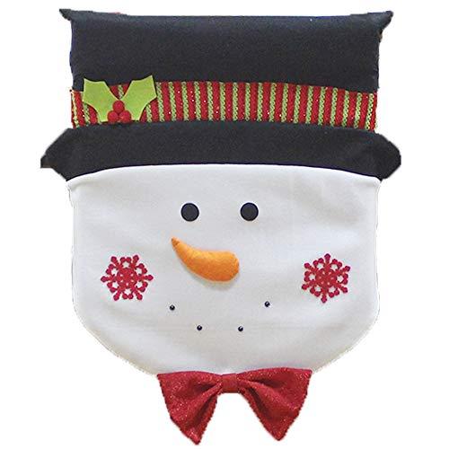 1Pcs Old Man Schneemann-Stuhl-Abdeckung Dinner Party Red Hat hintere Abdeckung Weihnachtsdekoration 60 * 45cm - Dinner-stühle Red