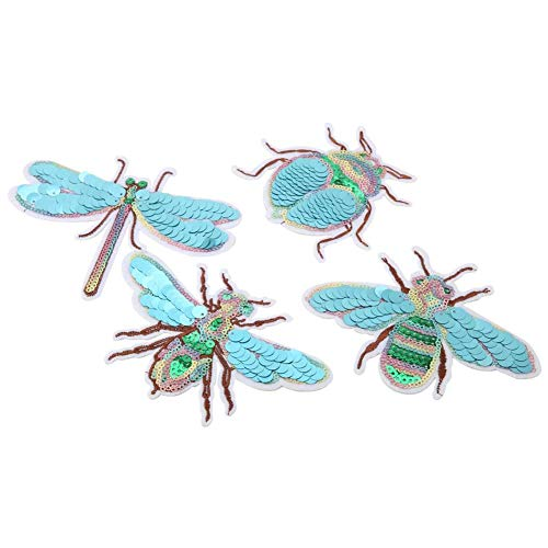 Insekten-Stickerei-Flecken, nette Flecken 4Pcs, die Dekoration-Flecken DIY Kleidungs-Applikation nähen