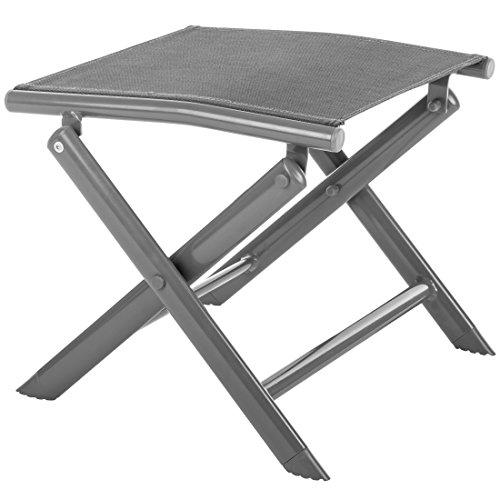 Ultranatura Aluminium Klapphocker - Fußstütze, Korfu-Serie-Plus, faltbar - Grau
