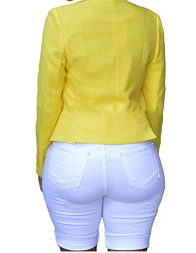 Nicetage Donna Strappati Jeans Vita Alta Pantaloncini Bianco