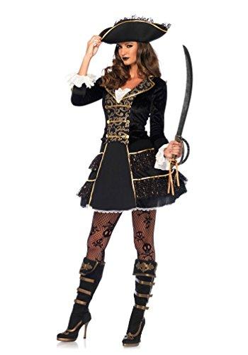 Karneval Klamotten Piratenkostüm sexy Damen Kostüm Pirat Damen Piratin Kapitän INKL, Piratenhut Karneval Damenkostüm Größe (Leg Avenue Herren Piraten Kostüm)