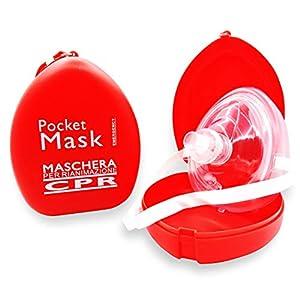 AIESI Pocketmaske CPR Maske Beatmungsmaske für Professionelle intensivmedizin beatmung mund zu mund