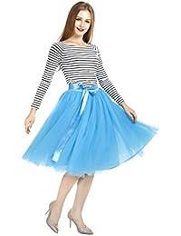 2983a770bb Amazon.es  falda tul azul - Mujer  Ropa