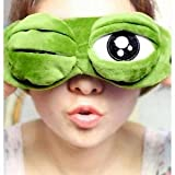 #1: EYE MASK / SLEEP MASK / Blinds for Sleeping, Cute and funny 3D cartoon frog in Super Soft Comfortable velvet for men and women by United Lethargics