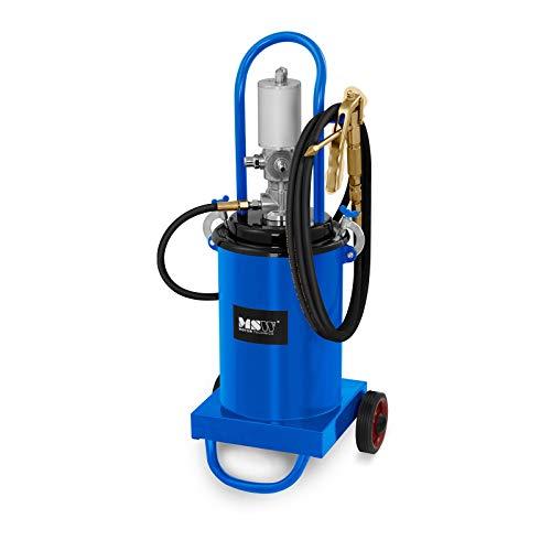 MSW Pompe À Graisse Pneumatique Professionnelle Appareil Graissage Lubrification Pro-G 12 (12 L, 240-320 Bars, Compression 40:1, Débit 0,75 l/Min)