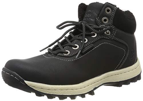 SIXSPACE Herren Winterstiefel Warm Gefütterte Winterschuhe Outdoor Schneestiefel Wanderschuhe Rutschfeste Arbeitsschuhe Winter Boots (Schwarz 42 EU)