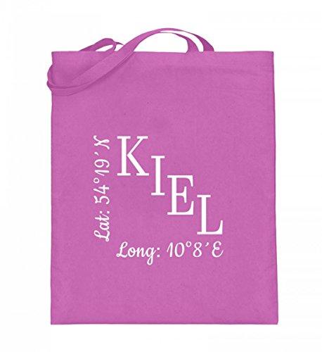Borsa In Juta Di Alta Qualità (con Manici Lunghi) - Coordinate Kiel Rosa