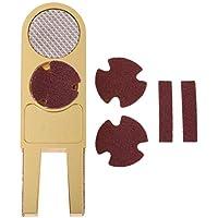 F Fityle Herramienta Multifuncional de Billar con Punta de Taco, en Forma de u Pulidor Trufadora Trimmer Tapper para Puntas de Cue - Oro