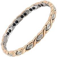 Sisto-X® Damen-Armband Titan magnetisch Pippa Roségold Kristalle Geschenkbox therapeutisch preisvergleich bei billige-tabletten.eu