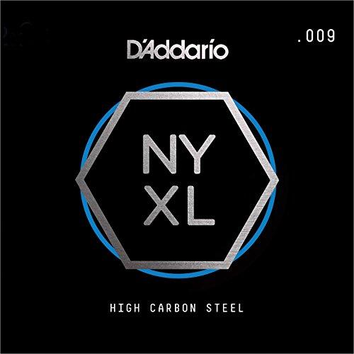 D'Addario NYS009 Einzelne Gitarrensaite aus reinem Stahl.009 (String, Electric Guitar 009)