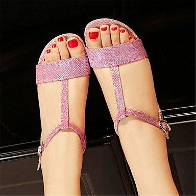LvYuan Da donna-Sandali-Matrimonio Formale Casual-Altro Club ShoesLustrini Materiali personalizzati-Rosa Argento Dorato Pink