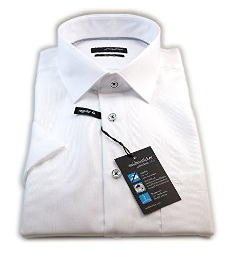 Seidensticker - Chemise business - À Rayures - Col Chemise Classique - Homme Blanc - blanc